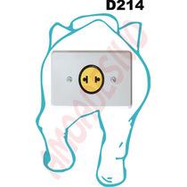 Adesivo D214 Interruptor Tomada Elefante De Costas De Parede