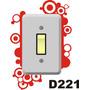 Adesivo D221 Interruptor Tomada Design De Bolas E Circulos