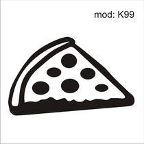 Adesivo K99 Alimentos Piza Mussarela Tomate Azeitona Pizza