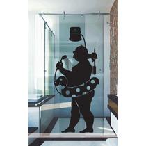 Adesivo Decorativo Parede Banheiro Box Homem Chuveiro Bóia