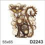 D2243 Adesivo Decorativo Rélogio Forma De Gato