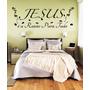 Adesivo Parede Religioso Quarto Frase Jesus Razão Para Tudo