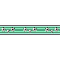 Adesivo Bdfx9002 Faixa Bolas Futebol Decorativa Quarto Bebê
