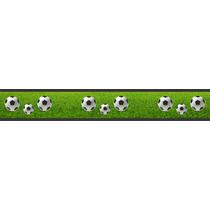 Adesivo Bdfx9005 Faixa Bolas Futebol Decorativa Quarto Bebê
