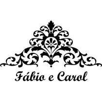 Adesivo Decorativo Parede Casal Arabesco Personalizado Nomes