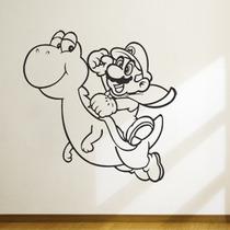 Adesivo Decorativo Super Mario - Mario E Yoshi - 47x47cm