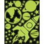 Adesivo Brilha No Escuro - Foguete - Planeta - Estrelas