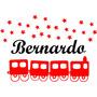 Adesivo Parede Infantil Estrela Trem Trenzinho -com Nome