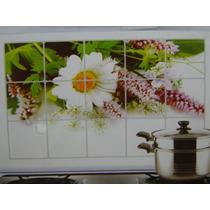 Margarida Em Flor 75x45cm Cozinha Adesivo Geladeira Azulejo