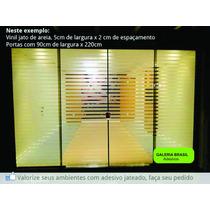 Adesivo Jateado Listras Para Portas De Blindex