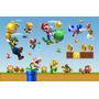 Painel Lona Aniversario Infantil Tema Mario Bros