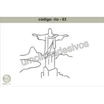 Adesivo Rio De Janeiro 3- Cristo Rententor - 80cmx80cm Alt