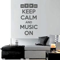 Adesivo De Parede Música Keep Calm And Music On