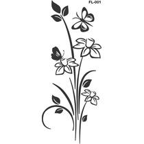 Adesivo De Vidro Decorativo Floral - Janela - Parede - Vidro