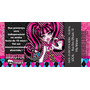 50 Convites Ingresso Vip Monster High Aniversário