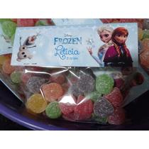 Frozen Lapela E Saquinho Para Doces ( Kit 20 Unidades )