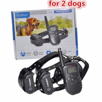 Coleira Adestramento P/ 2 Cães Controle Choque Recarregável