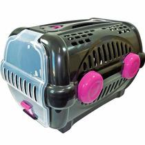 Caixa Transporte Caes E Gatos Furacao Pet Black Rosa - N.1