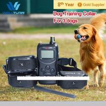 Coleira Eletrônica Para Treinamento E Adestramento De 3 Cães