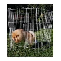 Cerca Cercadinho Com Porta Cães Pet Shop 60x100cm 4 Peças