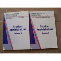Tecnicas Administrativas Vol 1 E 2 - Ipec