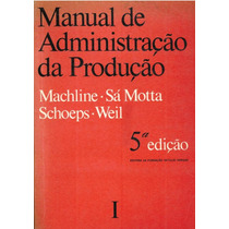 Manual De Administração Da Produção Editora Da Fgv