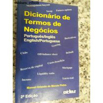 Livro Dicionário De Termos De Negócios Português- Inglês ##