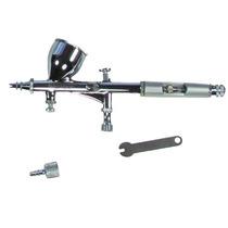 Kit Aerógrafo Pistola Pintura Dupla Ação 0,2mm Western Aer-3