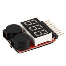 Alarme Voltagem Baixa P/ Bateria Lipo 2s - 8s Jr Futaba