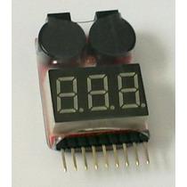Medidor De Bateria Lipo 2 Em 1 Medi De 1s A 8s Com Alarme