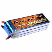 Bateria Lipo Gens Ace 2200mah 3s 11.1v 60c T Rex 450 Xt60