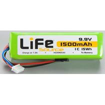 Bateria Life 9.9v 1500mah 1c Hobbico Square Tx U Hcam6530