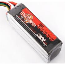 Wild Scorpion Rc 22.2 V 2800 30c Bateria Lipo Para Trex 500