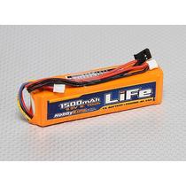 Bateria Hobbyking 1500mah Life 3s 9.9v Jr Spektrum Futaba