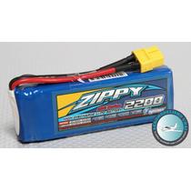 Bateria Zippy Lipo 2200mah 2s 7,4v 20c Airsoft V913 Avião