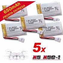 5 X Bateria Li-po 3.7v 650mah 25c Para Drones Syma X5 E X5c