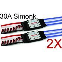 Kit 2x Esc 30a Simonk Com Bec Speed Control Rc Avião Helicóp