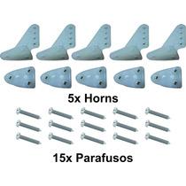 Conjunto De 5 Horns E 15 Parafusos Para Aeros A Combustão.