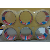 6 Fita Adesiva Top Tesa Transparente P/ Embalagem 48x50 Cm