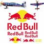 Cartela De Adesivos Aeromodelismo Completo - Red Bull