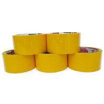 Fita Adesiva Amarela 48mmx45m Pacote 5un.