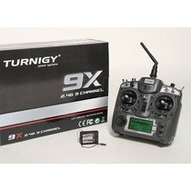 Rádio Controle Turnigy 9x 2.4ghz Receptor Brindes Aeromodelo