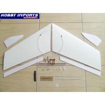 Kit Asa Zagi 100cm + Montante Embutido + Linkagem Completa