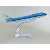 Avião Klm Metal Airbus 747-400 16cm