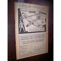 Raro Catalogo Antigo Brinquedos Aeromodelismo