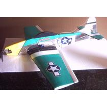 Aeromodelo P-51 Para Motor Elétrico Futaba Servo Os