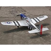 Planta Detalhada Aeromodelo P-51 Mustang Enver: 1,35 Balsa