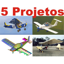 5 Projetos Avião Experimental Ultraleve Biplano Mono Biplace