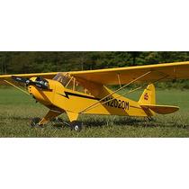 Kit Aeromodelo Piper Giant 3, 80 De Asa Cortado A Laser