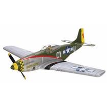 Kit Avião P-51d Mustang Rtf Elétrico Bl 3ch Rc (completo)